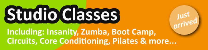 Studio Classes now available in our newly opened Fitness Studio