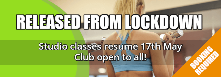 RELEASED FROM LOCKDOWN - Studio classes resume 17th May - Club open to all!