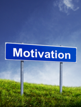 Signpost saying the word MOTIVATION